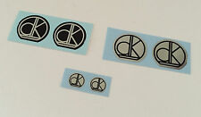 DK CHROME & BLACK - Stem  Decals- Choice 2  Colors (chrome or black background)