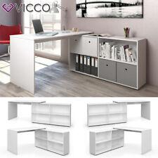 Vicco Flexplus Eckschreibtisch - Weiß
