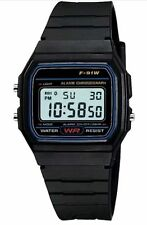 !SALE!Sports Alarm Stopwatch Wrist Watch with Casio Resin LCD Digital Retro F91W