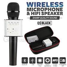 Bluetooth Wireless Microphone Karoke Stereo Mini Player Speaker Home KTV Q9 Hand