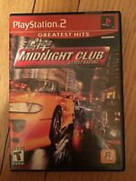 MIDNIGHT CLUB STREET RACING GREATEST HITS - PS2 - NO MANUAL - FREE S/H (Z)