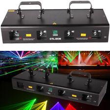NEU 7CH DMX512 RGPY 4Lens 460mW Lichteffekt DJ Disco Laser Licht Beleuchtung Bar