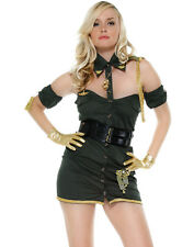 Lovely Lieutenant Military Babe Sexy Army Dress Womens Halloween Costume