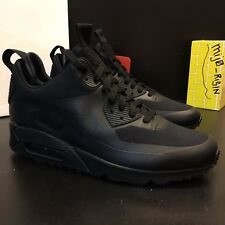 NEW Nikelab Air Max 90 sneakerboot SP 704570 001 Triple Black Men Size 9  PATCHES