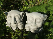 LATEX MOULD MOULDS MOLD.     PAIR OF NAUGHTY GARGOYLES HEADS.