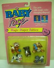 #1716** NRFC Vintage Galoob Baby Face Magic Diaper Babies Pets