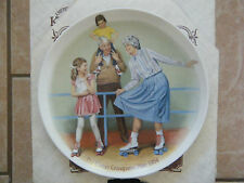 """Skating Queen""Collector Plate~5th issue Grandparent Series-J. Csatari- Knowles"