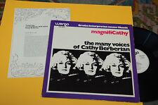 CATHY BERBERIAN LP MAGNIFI CA 1°ST ORIG EX AVANT GARDE EXPERIMENTAL CONTEMPORARY