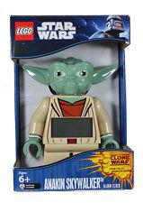 "NEW Lego Star Wars The Clone 7"" Figure Alarm Clock YODA Moving Arms Starwars"
