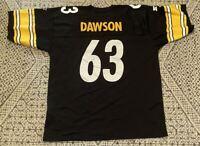 Vintage Dermontti Dawson Pittsburgh Steelers NFL Football Starter Jersey Size 52