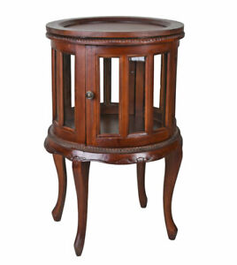 Tea Table Antique Cabinet Solid Wood Living Room Rundvitrine Coffee New