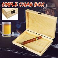 Cigar Humidor Wooden Box Case Humidifier Packing Wood Storage Holder Organiser