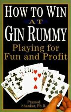 How To Win At Gin Rummy: Playing for Fun and Profit-ExLibrary