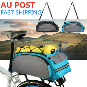 13L Bicycle Rear Saddle Bag Bike Seat Pannier Rack Pack Cycling Carrier Storage