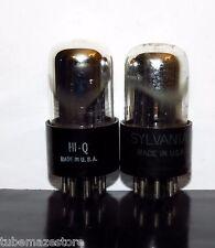 Matched Pair Sylvania 6SN7GTA/ECC32 tubes Chrome Dome - 1954-56 - Test NOS