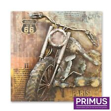 Primus Metal Chopper 3D Hand Crafted Metal Wall Art Retro Route 66 Motorbike
