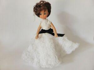 Cute 1960s Doll in Handmade Dress, Kitsch Vintage Decor, Mid Century, Hong Kong