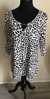 NEW NWT WHITE HOUSE BLACK MARKET Animal Leopard Print Top Blouse Sz XL