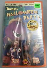 ✅Vintage 90s New BARNEY'S HALLOWEEN PARTY (VHS w/ Clamshell 1998) w/ CD ROM DISK