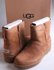 Women's UGG Australia Chestnut Suede Sheepskin Kristin Ankle Boots Sz 9 40 NIB