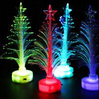 Christmas LED Light Mini Xmas Tree Color Changing Lamp Tree Home Party Decor New