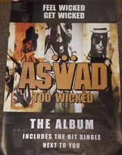 "ASWAD - Too Wicked - *GIANT* 60""x40"" Promo Poster *RARE*"
