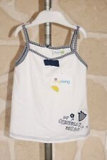Tee-shirt blanc et bleu neuf taille 2 ans marque Ning Nang (b)