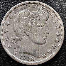1906 D Barber Half Dollar 50c Nice Grade #15278