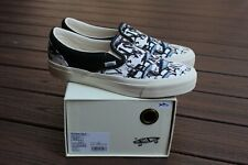 Vans Vault x Ralph Steadman OG CLASSIC Slip-On BLUE TUNA White Black Size 10 DS
