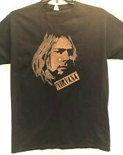 Nirvana Kirk Cobain Black T-Shirt Mens 100% Cotton Sz M