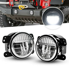 4'' LED Fog Lights for Jeep Wrangler JL JLU Rubicon Sahara 18-19 Plastic Bumper