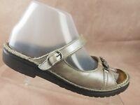 Naot Womens Comfort Sandal Size 6 US 37 EU Brown Leather Slip On Shoe