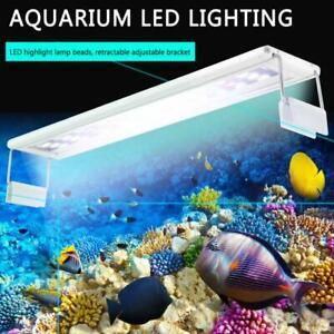 20-60CM Fish Tank LED Light Aquarium Plant Lighting Extensible Bracket White&RGB