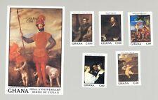 Ghana #1078-1083 Titian Art 5v & 1v S/S Imperf Proofs