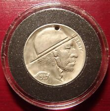 Rare Original Vintage 1937 Hobo Buffalo Nickel