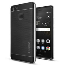 [Spigen Outlet] Huawei P9 Lite Case [Neo Hybrid] Satin Silver Dual Bumper Cover