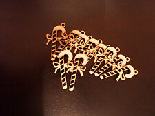 10x wooden candy canes mdf blanks xmas tree decoration