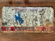 Super Rare Vintage Wyoming 1975 Ton Mile Tax License Plate  REVERSE STAMPED