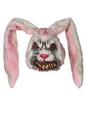 Adult Zombie Rabbit Mask Evil Bunny Horror Halloween Fancy Dress Accessory Mens