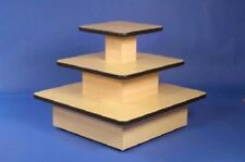 3 TIER SQUARE TABLE COUNTER DISPLAY STAND UNIT RETAIL CASH  SHOP  FITTINGS NEW