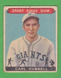 1933 Goudey Sport Kings Gum #42 Carl Hubbell - Baseball
