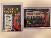 2020-21 NBA Panini Hoops Vanity Plate Zion Williamson Green Explos. Holo /89 LOT