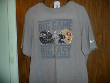 SUPERBOWL XLVII T SHIRT GRAY SIZE XL NIKE