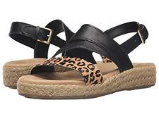 NEW AEROSOLES Globetrotter Leopard Leather Espadrille Sandals Shoes Women's SZ 7