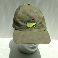 MASTERS Golf Baseball Cap Hat By American Needle Khaki Adjustable Strapback