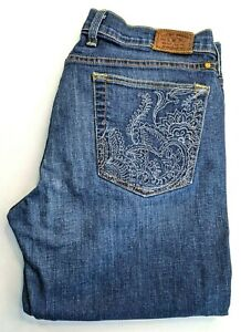 Lucky Brand Womens Sweet Straight Blue jeans 12 / 31 Cotton Blend Mid rise