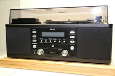 TEAC LP-R500 All in One Stereoanlage CD, Schallplatte Kassette, Radio in Schwarz