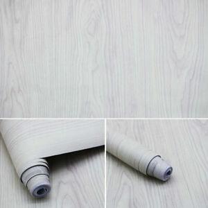 Beige Wood Grain Stripes Stickers Furniture Wardrobe Renovation Self-adhesive