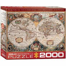 Antique Map Of The World 2000 Piece Puzzle