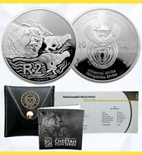2016 South Africa | 2 Rand CHEETAH 1 oz GEM PROOF Sterling Silver |  'Big Cats'
